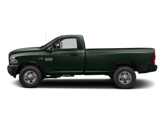 Black Forest Green Pearlcoat 2017 Ram Truck 3500 Pictures 3500 Regular Cab SLT 2WD photos side view