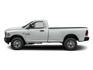 Bright White Clearcoat 2017 Ram Truck 3500 Pictures 3500 SLT 4x4 Reg Cab 8' Box photos side view