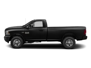 Black Clearcoat 2017 Ram Truck 3500 Pictures 3500 SLT 4x4 Reg Cab 8' Box photos side view
