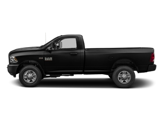 Brilliant Black Crystal Pearlcoat 2017 Ram Truck 3500 Pictures 3500 SLT 4x4 Reg Cab 8' Box photos side view