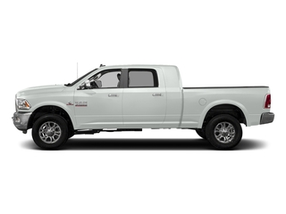 Bright White Clearcoat 2017 Ram Truck 3500 Pictures 3500 Laramie Longhorn 4x2 Mega Cab 6'4 Box photos side view