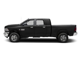 Brilliant Black Crystal Pearlcoat 2017 Ram Truck 3500 Pictures 3500 Mega Cab SLT 4WD photos side view
