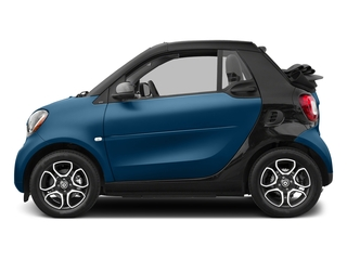 Midnight Blue Metallic 2017 smart fortwo Pictures fortwo Convertible 2D Prime I3 Turbo photos side view