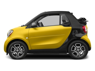 Black-to-Yellow Metallic 2017 smart fortwo Pictures fortwo Convertible 2D Prime I3 Turbo photos side view