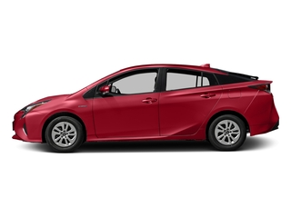 Hypersonic Red 2017 Toyota Prius Pictures Prius Liftback 5D Four I4 Hybrid photos side view