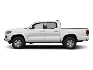 Super White 2017 Toyota Tacoma Pictures Tacoma SR Crew Cab 4WD V6 photos side view