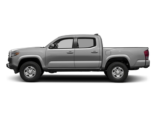 Silver Sky Metallic 2017 Toyota Tacoma Pictures Tacoma SR Crew Cab 4WD V6 photos side view