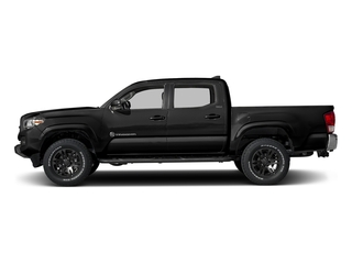 Black 2017 Toyota Tacoma Pictures Tacoma SR5 Crew Cab 2WD V6 photos side view