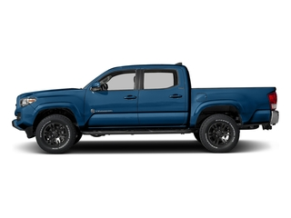 Blazing Blue Pearl 2017 Toyota Tacoma Pictures Tacoma SR5 Crew Cab 2WD V6 photos side view