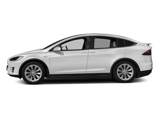 Pearl White Multi-Coat 2017 Tesla Motors Model X Pictures Model X Utility 4D 90 kWh AWD Electric photos side view
