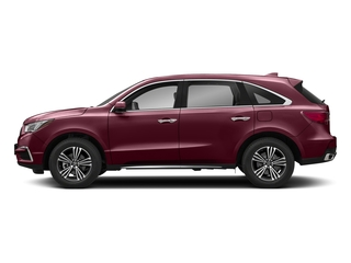 Basque Red Pearl II 2018 Acura MDX Pictures MDX Utility 4D AWD photos side view
