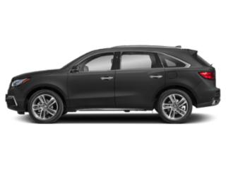 Modern Steel Metallic 2018 Acura MDX Pictures MDX Utility 4D Advance DVD AWD photos side view