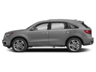 Lunar Silver Metallic 2018 Acura MDX Pictures MDX Utility 4D Advance DVD AWD photos side view