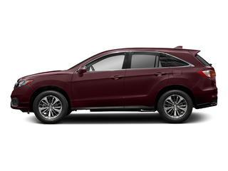 Basque Red Pearl II 2018 Acura RDX Pictures RDX Utility 4D Advance AWD V6 photos side view