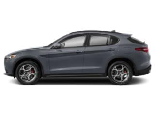 Stromboli Gray Metallic 2018 Alfa Romeo Stelvio Pictures Stelvio Ti Sport AWD photos side view