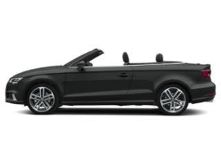 Mythos Black Metallic/Black Roof 2018 Audi A3 Cabriolet Pictures A3 Cabriolet 2.0 TFSI Prestige quattro AWD photos side view