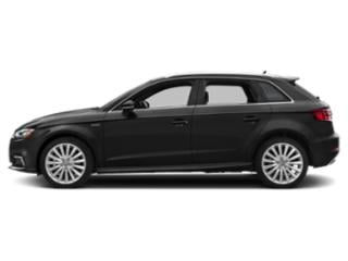 Brilliant Black 2018 Audi A3 Sportback e-tron Pictures A3 Sportback e-tron Hatchback 5D E-tron Prestige photos side view