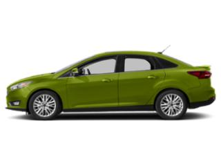 Outrageous Green Metallic Tinted Clearcoat 2018 Ford Focus Pictures Focus Sedan 4D Titanium I4 photos side view