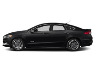 Shadow Black 2018 Ford Fusion Hybrid Pictures Fusion Hybrid Titanium FWD photos side view