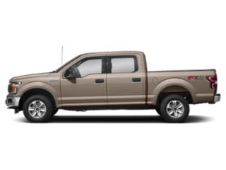 White Gold 2018 Ford F-150 Pictures F-150 Crew Cab XLT 4WD photos side view