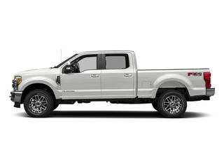 Oxford White 2018 Ford Super Duty F-350 SRW Pictures Super Duty F-350 SRW LARIAT 4WD Crew Cab 8' Box photos side view