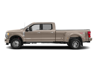 White Gold Metallic 2018 Ford Super Duty F-350 DRW Pictures Super Duty F-350 DRW Platinum 4WD Crew Cab 8' Box photos side view