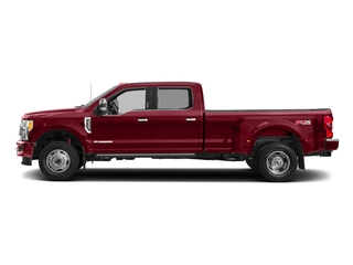 Ruby Red Metallic Tinted Clearcoat 2018 Ford Super Duty F-350 DRW Pictures Super Duty F-350 DRW Platinum 4WD Crew Cab 8' Box photos side view