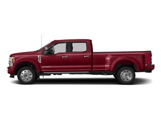 Ruby Red Metallic Tinted Clearcoat 2018 Ford Super Duty F-450 DRW Pictures Super Duty F-450 DRW Platinum 2WD Crew Cab 8' Box photos side view