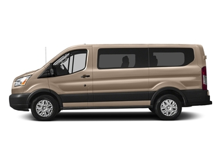 White Gold Metallic 2018 Ford Transit Passenger Wagon Pictures Transit Passenger Wagon Passenger Van XLT Low Roof photos side view