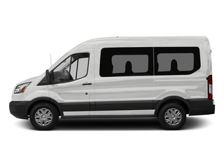 Oxford White 2018 Ford Transit Passenger Wagon Pictures Transit Passenger Wagon Passenger Van XL Medium Roof photos side view