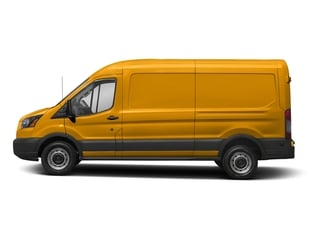 School Bus Yellow 2018 Ford Transit Van Pictures Transit Van T-250 148 Med Rf 9000 GVWR Dual Dr photos side view