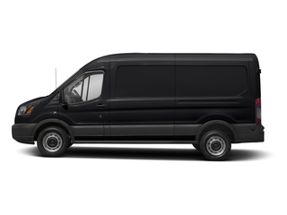 Shadow Black 2018 Ford Transit Van Pictures Transit Van T-250 148 Med Rf 9000 GVWR Dual Dr photos side view