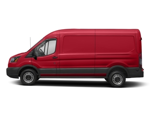 Race Red 2018 Ford Transit Van Pictures Transit Van T-250 148 Med Rf 9000 GVWR Dual Dr photos side view