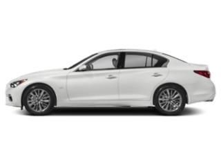 Pure White 2018 INFINITI Q50 Pictures Q50 2.0t LUXE AWD photos side view