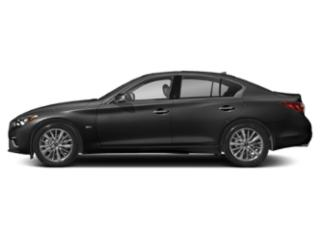 Black Obsidian 2018 INFINITI Q50 Pictures Q50 Sedan 4D 2.0T Pure AWD photos side view