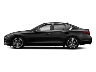 Black Obsidian 2018 INFINITI Q50 Pictures Q50 Hybrid LUXE RWD photos side view
