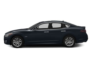 Hermosa Blue 2018 INFINITI Q70 Pictures Q70 Hybrid LUXE RWD photos side view