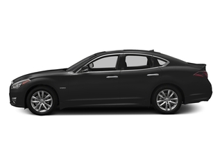 Black Obsidian 2018 INFINITI Q70 Pictures Q70 Hybrid LUXE RWD photos side view