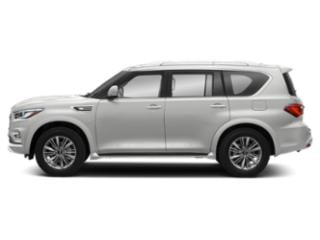 Moonstone White 2018 INFINITI QX80 Pictures QX80 Utility 4D AWD V8 photos side view