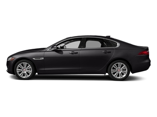 Santorini Black Metallic 2018 Jaguar XF Pictures XF Sedan 35t Premium RWD *Ltd Avail* photos side view