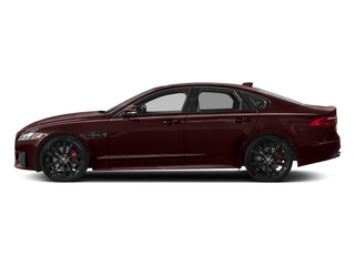 Rossello Red Metallic 2018 Jaguar XF Pictures XF Sedan S AWD photos side view
