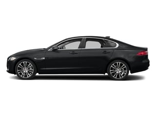 Santorini Black Metallic 2018 Jaguar XF Pictures XF Sedan 25t Prestige RWD photos side view