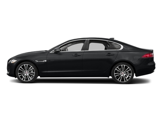 Santorini Black Metallic 2018 Jaguar XF Pictures XF Sedan 25t Prestige AWD photos side view