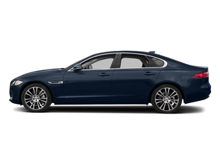 Loire Blue Metallic 2018 Jaguar XF Pictures XF Sedan 20d Prestige AWD photos side view