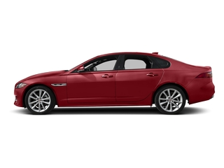Firenze Red Metallic 2018 Jaguar XF Pictures XF Sedan 25t R-Sport AWD photos side view