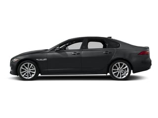 Santorini Black Metallic 2018 Jaguar XF Pictures XF Sedan 4D 20d R-Sport photos side view