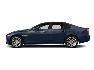 Loire Blue Metallic 2018 Jaguar XF Pictures XF Sedan 25t R-Sport AWD photos side view