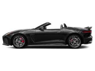 Santorini Black Metallic 2018 Jaguar F-TYPE Pictures F-TYPE Convertible Auto SVR AWD photos side view