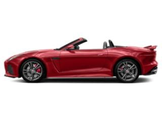 Caldera Red 2018 Jaguar F-TYPE Pictures F-TYPE Convertible Auto SVR AWD photos side view