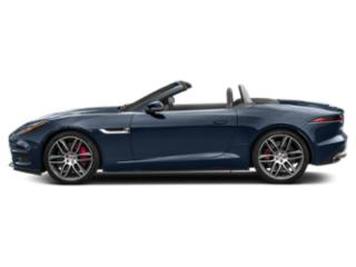 Loire Blue Metallic 2018 Jaguar F-TYPE Pictures F-TYPE Convertible Auto R AWD photos side view